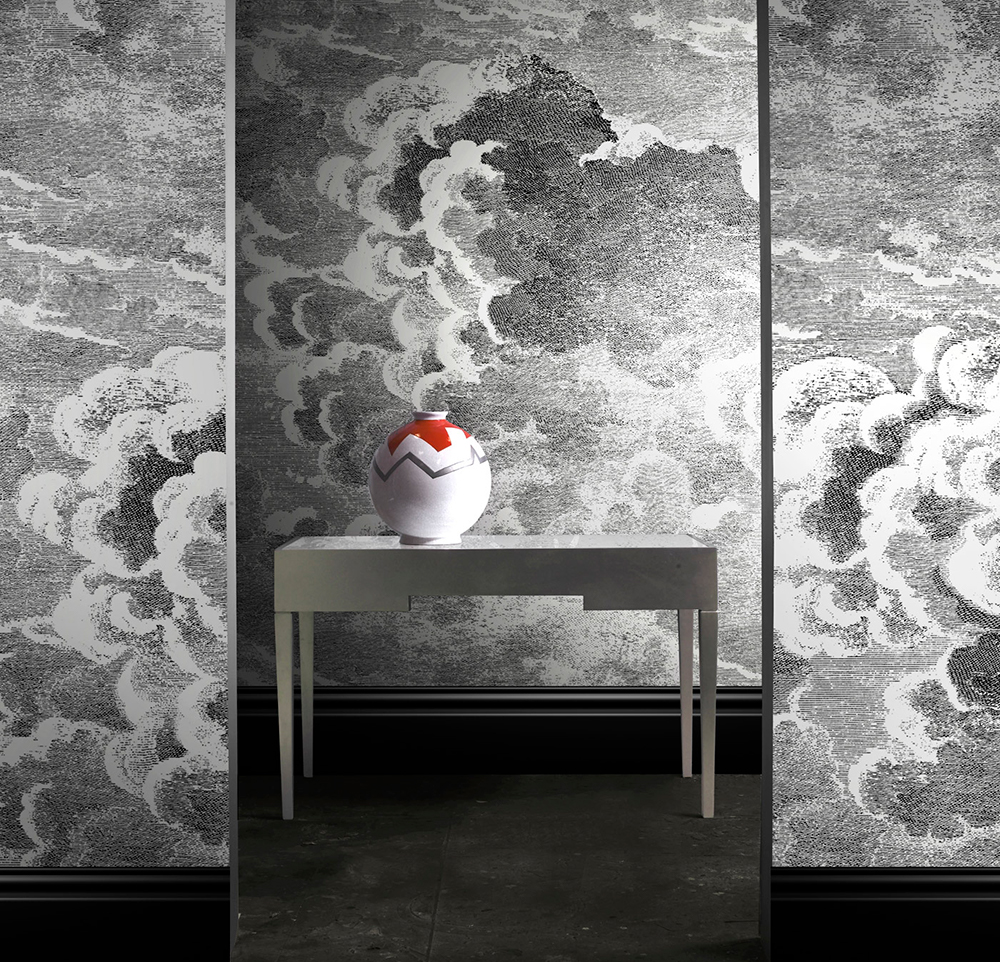 fabulous fornasetti cloud wallpaper in sherlock. Black Bedroom Furniture Sets. Home Design Ideas